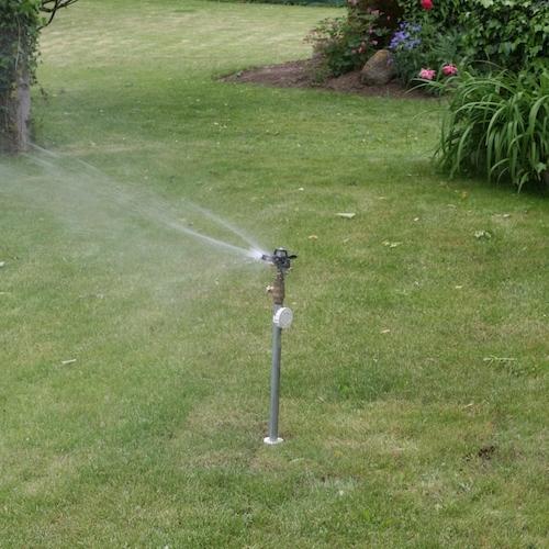 Vanne amovible avec sprinkler en situation